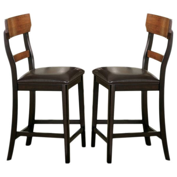 Shop Freesia Two Tone Counter Stools Set Of 2 Free