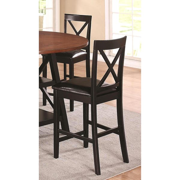 Stupendous Shop Arosa Black Cross Back Counter Stools Set Of 2 Free Spiritservingveterans Wood Chair Design Ideas Spiritservingveteransorg