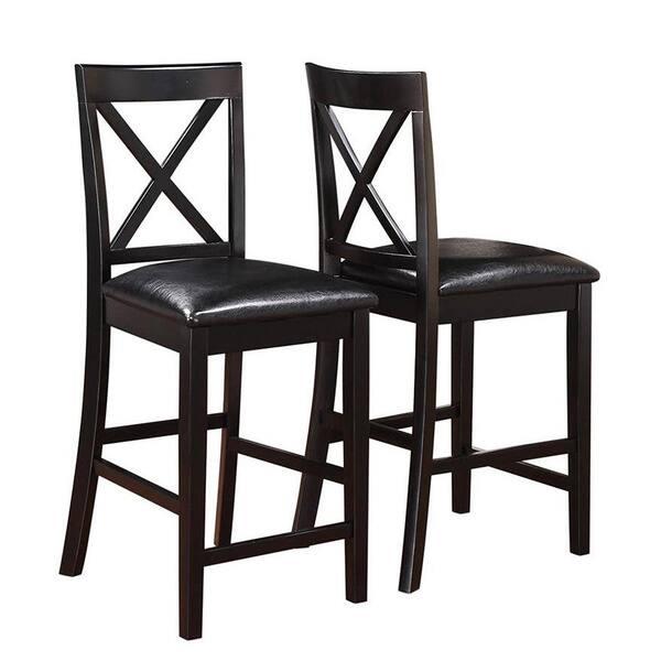 Fabulous Shop Arosa Black Cross Back Counter Stools Set Of 2 Free Spiritservingveterans Wood Chair Design Ideas Spiritservingveteransorg