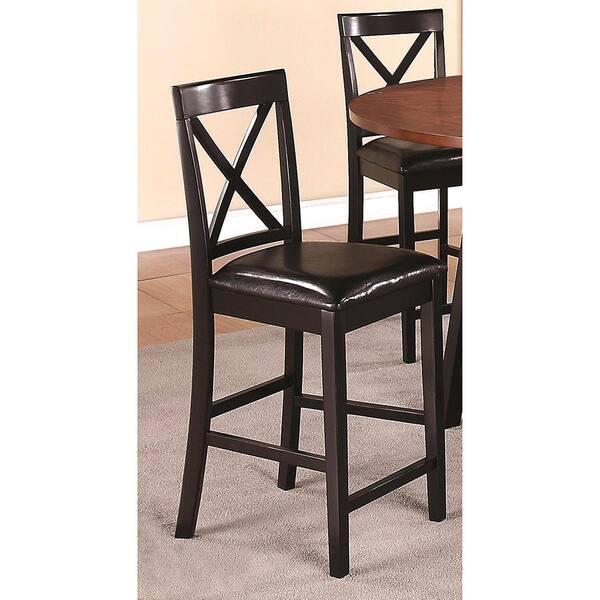 Superb Shop Arosa Black Cross Back Counter Stools Set Of 2 Free Spiritservingveterans Wood Chair Design Ideas Spiritservingveteransorg