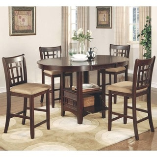 Azalea Warm Brown Counter Height Dining Set