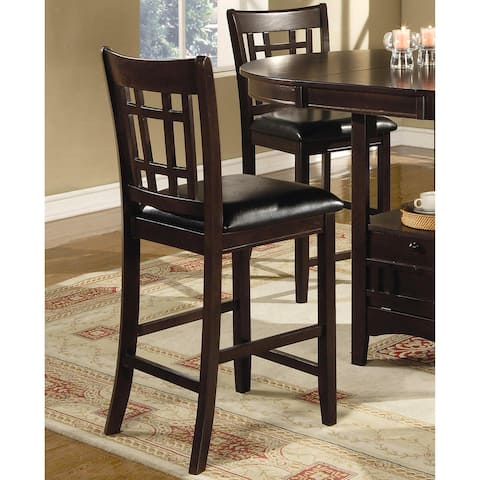Quince Espresso Counter Height Stools (Set of 2)