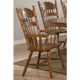Trieste Windsor Country Style Arm Chairs (Set of 2)