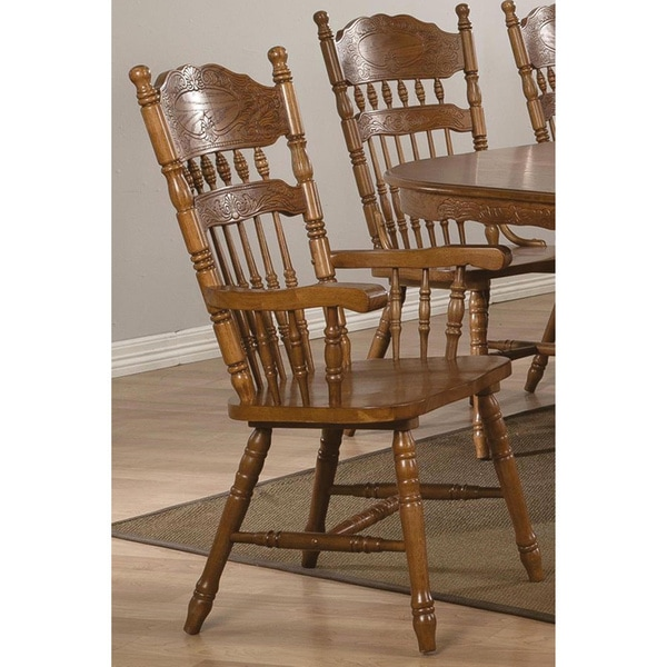 Shop Trieste Windsor Country Style Arm Chairs Set Of 2