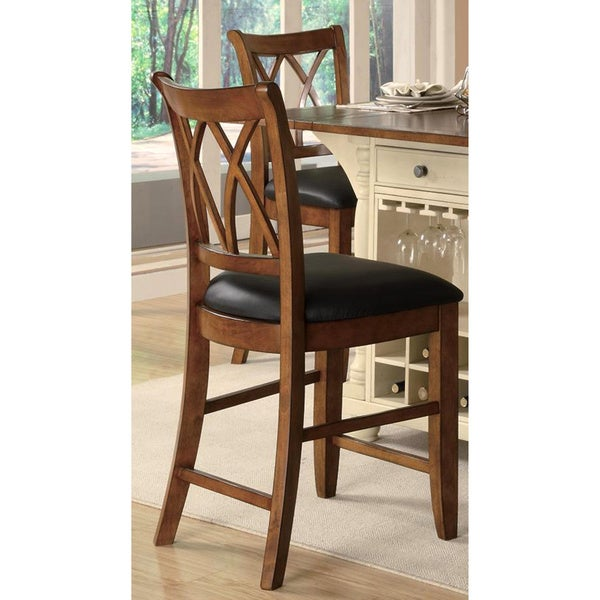 Palermo Cherry Counter Stool Set Of 2 Free Shipping