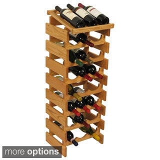 24-bottle Stackable Wood Dakota Wine Rack with Display Top