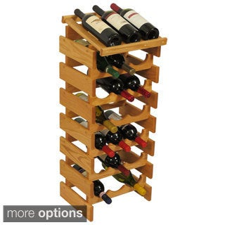21-bottle Stackable Wood Dakota Wine Rack with Display Top