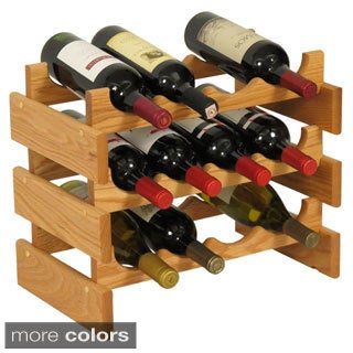 Pine Canopy Arapaho 12-bottle Stackable Wood Wine Rack