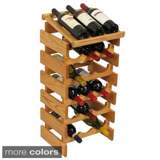 18-bottle Stackable Wood Dakota Wine Rack with Display Top