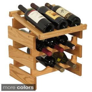 9-bottle Stackable Wood Dakota Wine Rack with Display Top