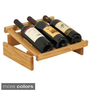 3-bottle Stackable Wood Dakota Wine Display