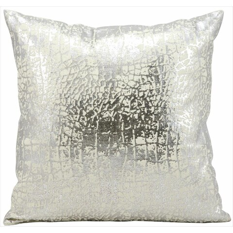 kathy ireland Metallic Snake Skin Silver Throw Pillowby Nourison (18-Inch X 18-Inch)