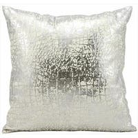 kathy ireland Metallic Snake Skin Silver Throw Pillowby Nourison (18-Inch X 18-Inch)