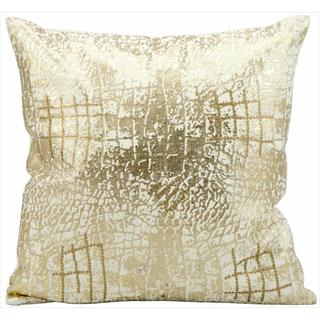 kathy ireland metallic snake skin gold throw pillow 18 inch x 18 inch - Gold Decorative Pillows