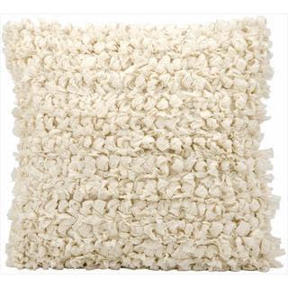 kathy ireland Shag Loop Shag Beige Throw Pillow (20-inch x 20-inch) by Nourison