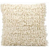 kathy ireland Shag Loop Shag Beige Throw Pillow (20-inch x 20-inch) by Nourison