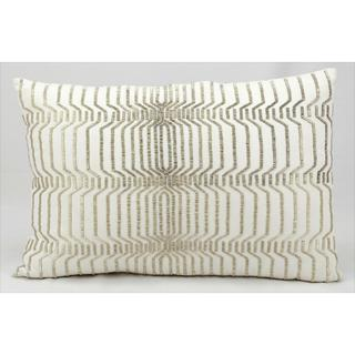 kathy ireland Beading Ivory Throw Pillow (16-inch x 24-inch) by Nourison