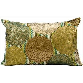 kathy ireland Copper Circles Green/Copper Throw Pillow (12-inch x 20-inch) by Nourison