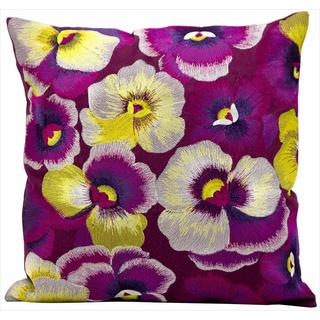 kathy ireland Pansies Multicolor Throw Pillow (18-inch x 18-inch) by Nourison