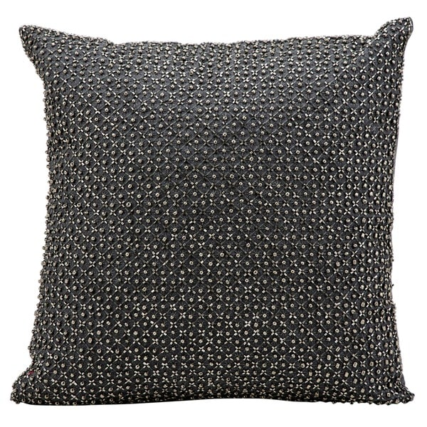 kathy ireland Tic Tac Toe Beads Charcoal Throw Pillowby Nourison (16-Inch X 16-Inch)