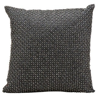 kathy ireland Tic Tac Toe Beads Charcoal Throw Pillow (16-inch x 16-inch) by Nourison