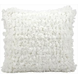 kathy ireland Loop Shag White Throw Pillow (20-inch x 20-inch) by Nourison