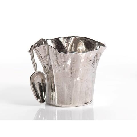 """12"""" Diameter Aluminum Ice Bucket with Scoop"""