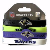 NFL Baltimore Ravens Silicone Wrist Bracelets (Set of 4)