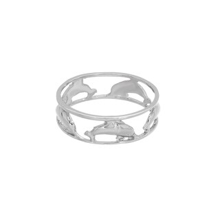 Sterling Essentials Sterling Silver Dolphin Midi Ring
