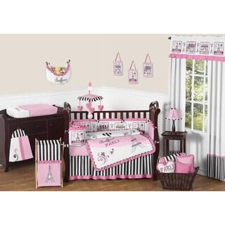 Sweet Jojo Designs Paris 9-piece Crib Bedding Set