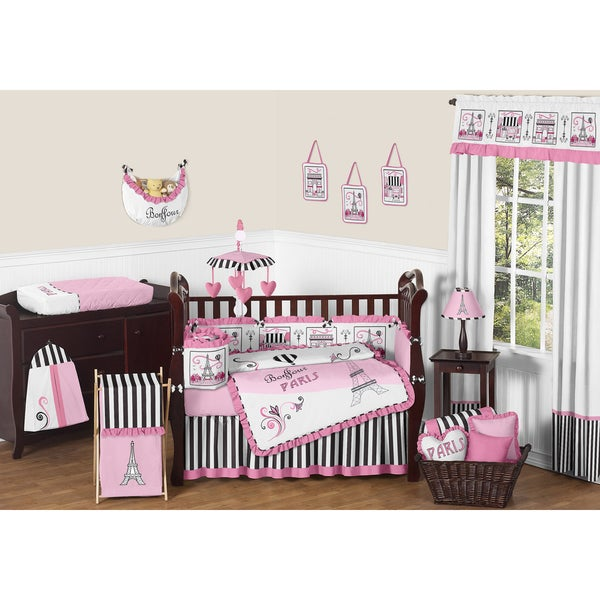 Sweet Jojo Designs Paris 9-piece Crib Bedding Set