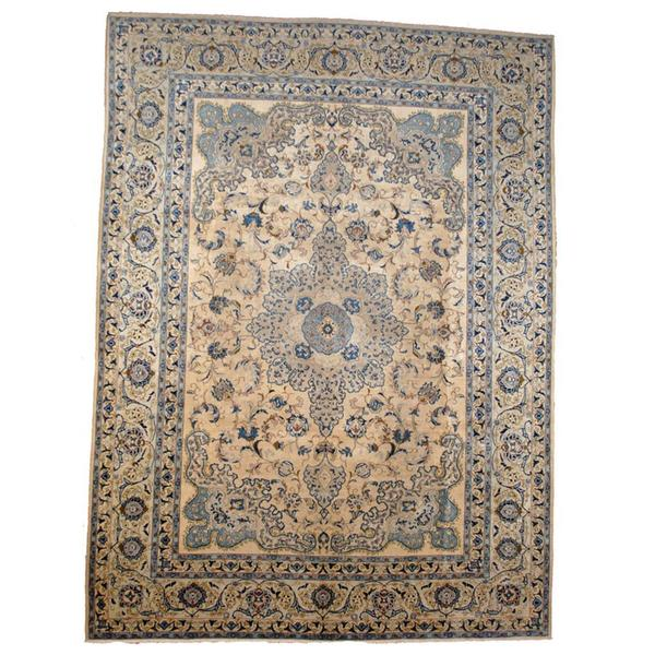 Hand Knotted Persian Isfahan Wool Area Rug: Shop Herat Oriental Semi-antique 1940's Persian Hand