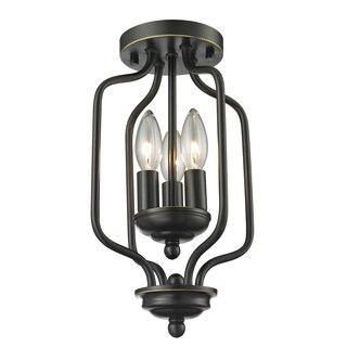 Z-Lite Cardinal 3-light Olde Bronze Flush Mount