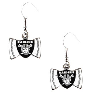 NFL Oakland Raiders Bow Tie Earrings