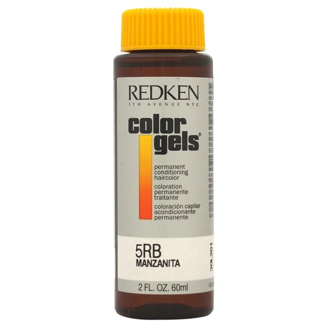 Redken Color Gels Permanent Conditioning 5RB Manzanita 2-...