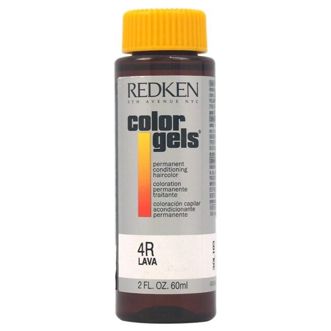 Redken Color Gels Permanent Conditioning 4R Lava 2-ounce ...