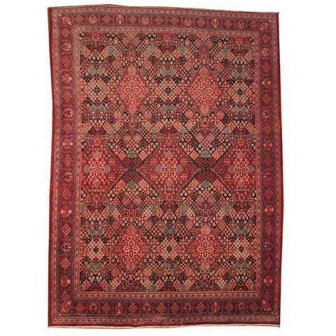 Handmade One-of-a-Kind Josheghan Wool Rug (Iran) - 9'8 x 13'1