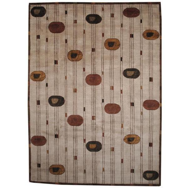 Herat Oriental Indo Hand-knotted Tibetan Wool Rug - 9' x 12'4