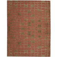 Handmade Herat Oriental Indo Tibetan Wool Rug (India) - 9' x 12'