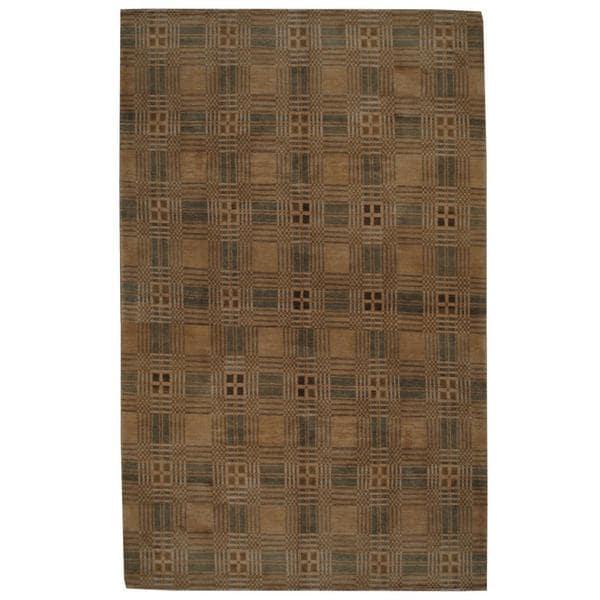 Handmade Herat Oriental Indo Tibetan Wool Rug (India) - 8'10 x 12'4