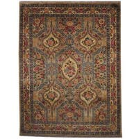 Herat Oriental Indo Hand-knotted Tabriz Wool Rug - 9' x 12'