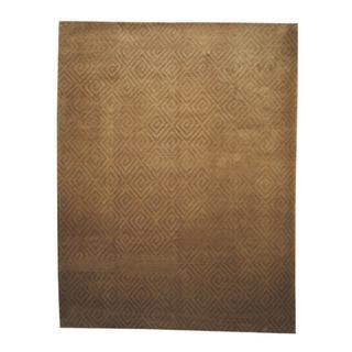 Herat Oriental Indo Hand-knotted Tibetan Gold/ Tan Wool Rug (9'2 x 11'8)|https://ak1.ostkcdn.com/images/products/9242661/P16408851.jpg?impolicy=medium