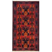 Herat Oriental Afghan Hand-knotted 1950s Semi-antique Tribal Balouchi Wool Rug (3'6 x 6'7) - 3'6 x 6'7