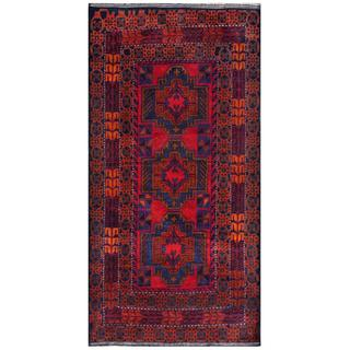 Handmade One-of-a-Kind Balouchi Wool Rug (Afghanistan) - 3'5 x 6'8
