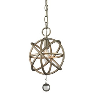 Z-Lite Acadia 1-light Antique Silver/ Clear Crystal Mini Pendant