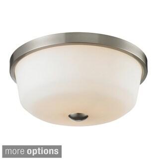 Z-Lite Montego 3-light Matte Opal Glass Flush Mount