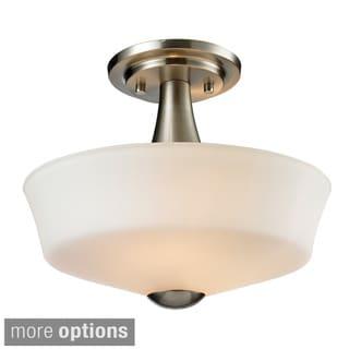 Z-Lite Montego 2-light Matte Opal Glass Semi-flush Mount