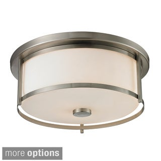 Avery Home Lighting Savannah 3-light Matte Opal Glass Flush Mount