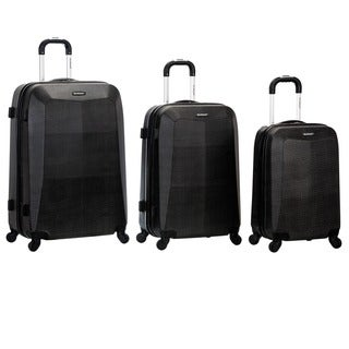 Rockland Vision Crocodile Print 3-piece Hardside Spinner Luggage Set