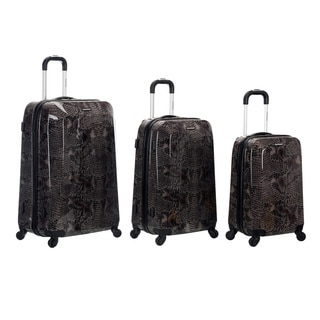 Rockland Vision Snake Print 3-piece Hardside Spinner Luggage Set